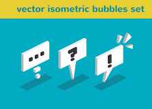 Vector isometric bubbles Stock Photography