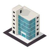 Vector isometric building icon. Stock Photos