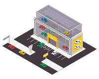 Vector isometric building icon. Royalty Free Stock Photography
