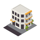Vector isometric building icon Royalty Free Stock Photography