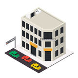 Vector isometric building icon Stock Images
