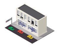 Vector isometric building icon Royalty Free Stock Images