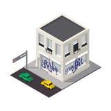 Vector isometric building icon Stock Photos