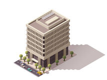 Vector isometric building Royalty Free Stock Images