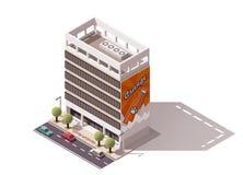 Vector isometric building Royalty Free Stock Photo