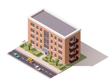 Vector isometric building Stock Photography