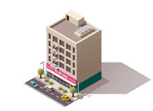Vector isometric building Stock Images