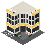 Vector isometric building icon. Royalty Free Stock Images