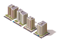 Free Vector Isometric Buildings Set Stock Images - 67045054