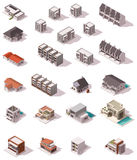 Vector isometric buildings set Stock Photography