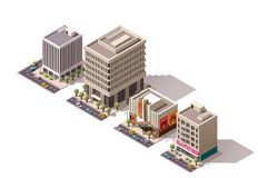 Vector isometric buildings set Royalty Free Stock Image