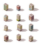 Vector isometric buildings set Stock Images