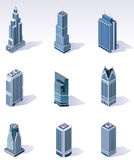 Vector isometric buildings. Skyscrapers Stock Photography