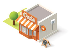 Vector isometric cafe Royalty Free Stock Photos