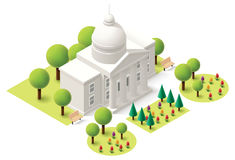 Vector isometric capitol Royalty Free Stock Photos