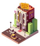 Vector isometric casino building royalty free illustration