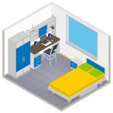 Vector isometric children room icon Stock Photos