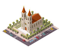 Vector isometric church Royalty Free Stock Image