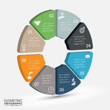 Vector isometric circle element for infographic. Royalty Free Stock Photo