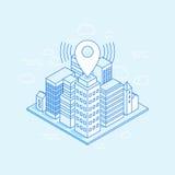 Vector isometric city illustration Royalty Free Stock Photos