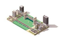 Vector isometric city map Stock Photos