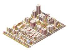 Vector isometric city Stock Photo