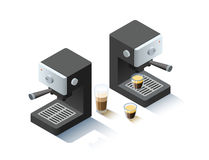 Vector isometric coffee machine object Royalty Free Stock Photography