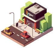 Vector isometric copy and print shop Stock Image