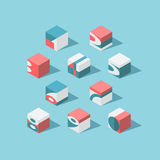 Vector isometric cubical numerals Royalty Free Stock Photo