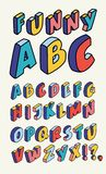 Isometric design style alphabet. Letter and 3d alphabet. Vector Isometric design style alphabet. Letter and 3d alphabet, alphabet letters outline liner hand Royalty Free Stock Photos