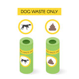 Vector isometric dog waste cans Royalty Free Stock Photography