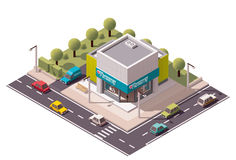 Vector isometric drugstore Stock Photo