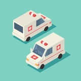 Vector isometric emergency car icon. Stock Image