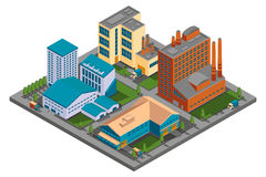 Vector isometric factory Royalty Free Stock Image