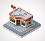Vector isometric fast food cafe Stock Photos