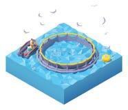 Free Vector Isometric Feeding Fish At Fish Farm Stock Image - 166197581