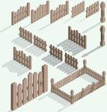 Vector isometric fence vector illustration