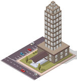 Vector Isometric Flats Apartment Stock Images