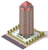 Vector Isometric Flats Apartment Royalty Free Stock Photos