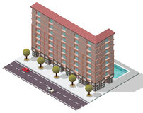 Vector Isometric Flats Apartment Stock Photography