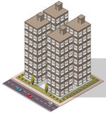 Vector Isometric Flats Apartment. For map Royalty Free Stock Photography