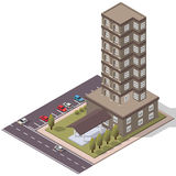 Vector Isometric Flats Apartment Royalty Free Stock Image