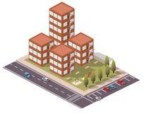 Vector Isometric Flats/Duplex. For city map Stock Photos