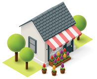 Vector isometric florist shop Stock Images