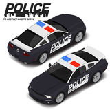 Vector isometric high quality police sport car. Transport icon Stock Photo