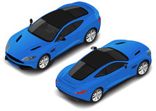 Vector isometric high quality sport car. Transport icon. Small set Stock Images
