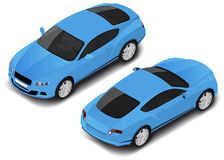Vector isometric high quality sport car. Transport icon. Small set Stock Image
