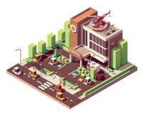Vector isometric hospital building Royalty Free Illustration