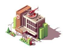 Vector isometric hospital building Stock Photos