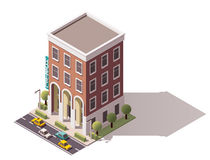 Vector isometric hostel building Royalty Free Stock Images